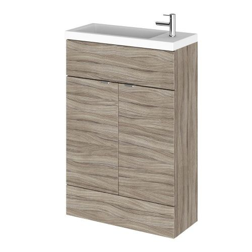 Elite Driftwood 600mm Compact Vanity Unit & Basin